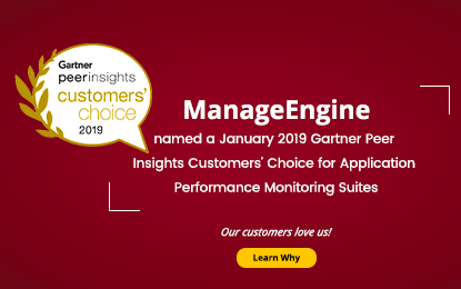 ManageEngine Applications Manager Gartner Peer Insight