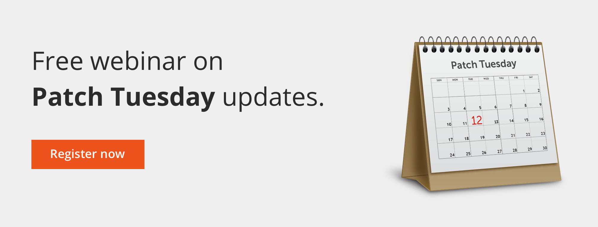 Free webinar on Patch Tuesday updates.