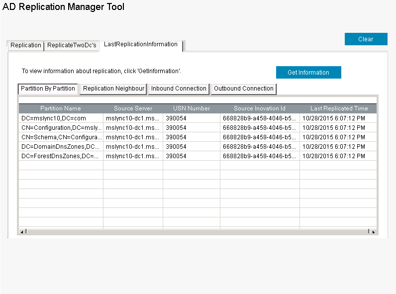 Active Directory Domain Replication Management Tool