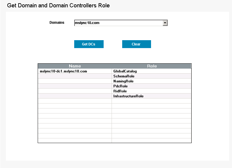 Get Domain and Domain Controllers Tool