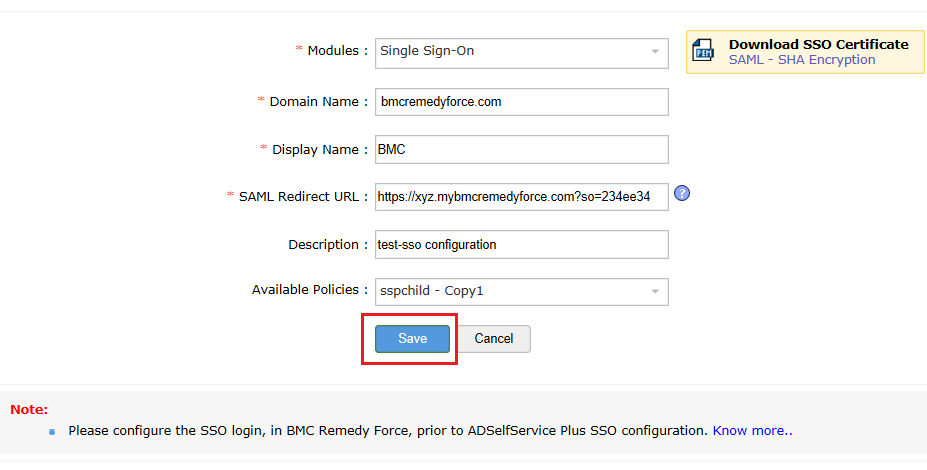 bmc-remedyforce-sso-configuration