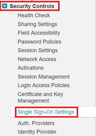 single-sign-on-salesforce-configuration